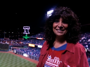 Mom at a National League Championship game